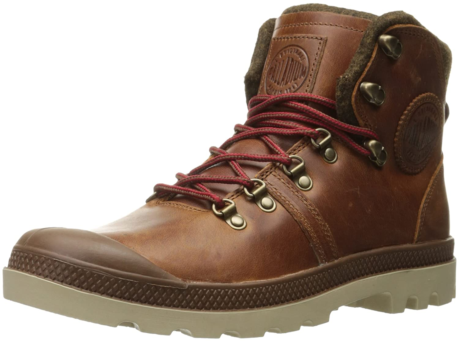 Palladium Pallabrouse Hiker - Sunrise/Red/Safari Leather Hiking Boot 8 M US 05139 05139_233-41