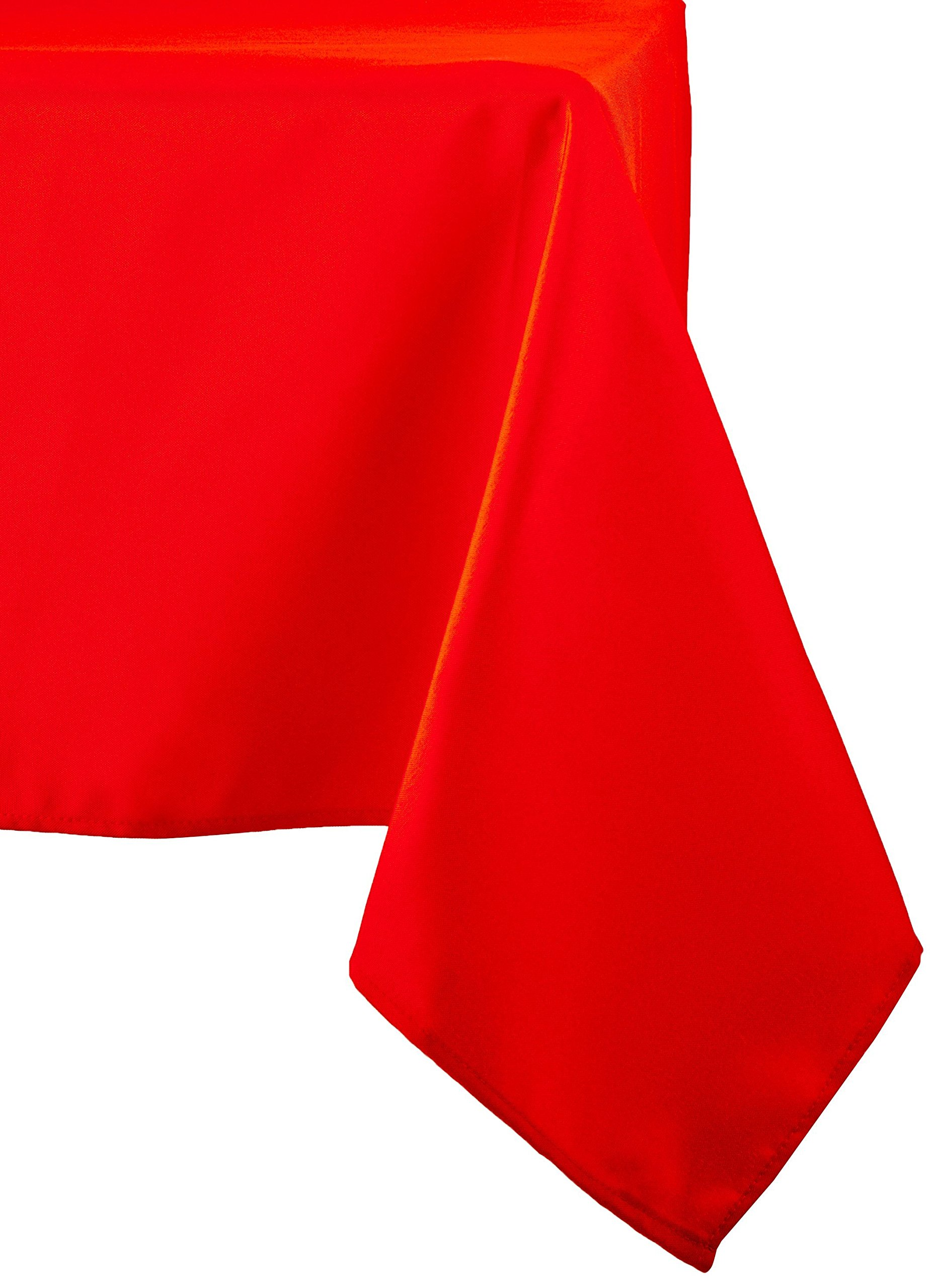 Linentablecloth 60 X 126-Inch Rectangular Polyester Tablecloth Red 2