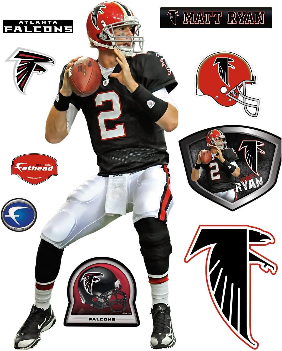 Matt Ryan Throwback Atlanta Falcons Fathead, Jerseys - Amazon Canada