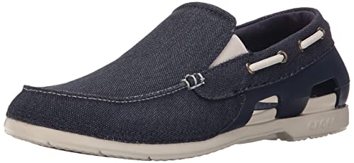 9f38dadd7a8572 crocs Men s Beach Line Navy Stucco Loafers - M9(202774-46K)  Buy ...