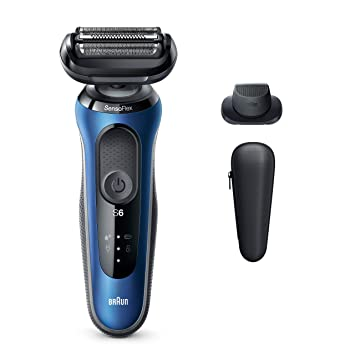 BRAUN 3050CC WATERPROOF RECHARGEABLE MEN/'S SHAVER W// CLEANING /& CHARGING STATION