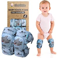 Baby Knee Pads for Crawling (2 Pairs) | Protector for Toddler, Infant, Girl, Boy ((Popular Choice) Shark)