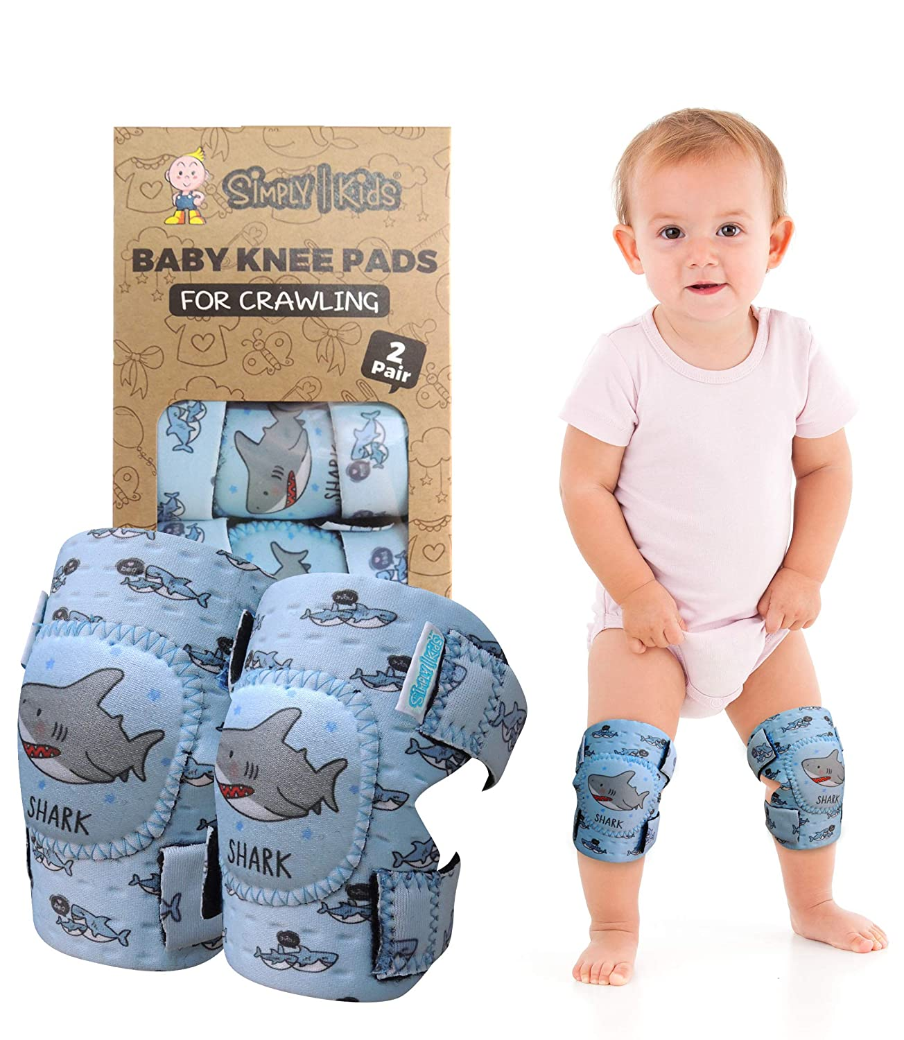 4 Pairs Baby Knee Pads for Crawling Cute Adjustable Breathable Infant Toddler Crawling Pads Anti-Slip and Protect Infants /& Toddlers Knees Safety Protector for Babies