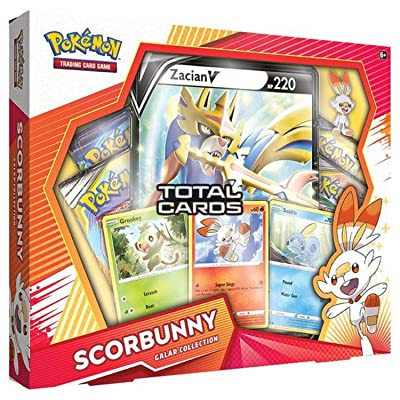 Pokemon TCG: Galar Collection Scorbunny Box | 4 Booster Pack, Multicolor: Toys & Games