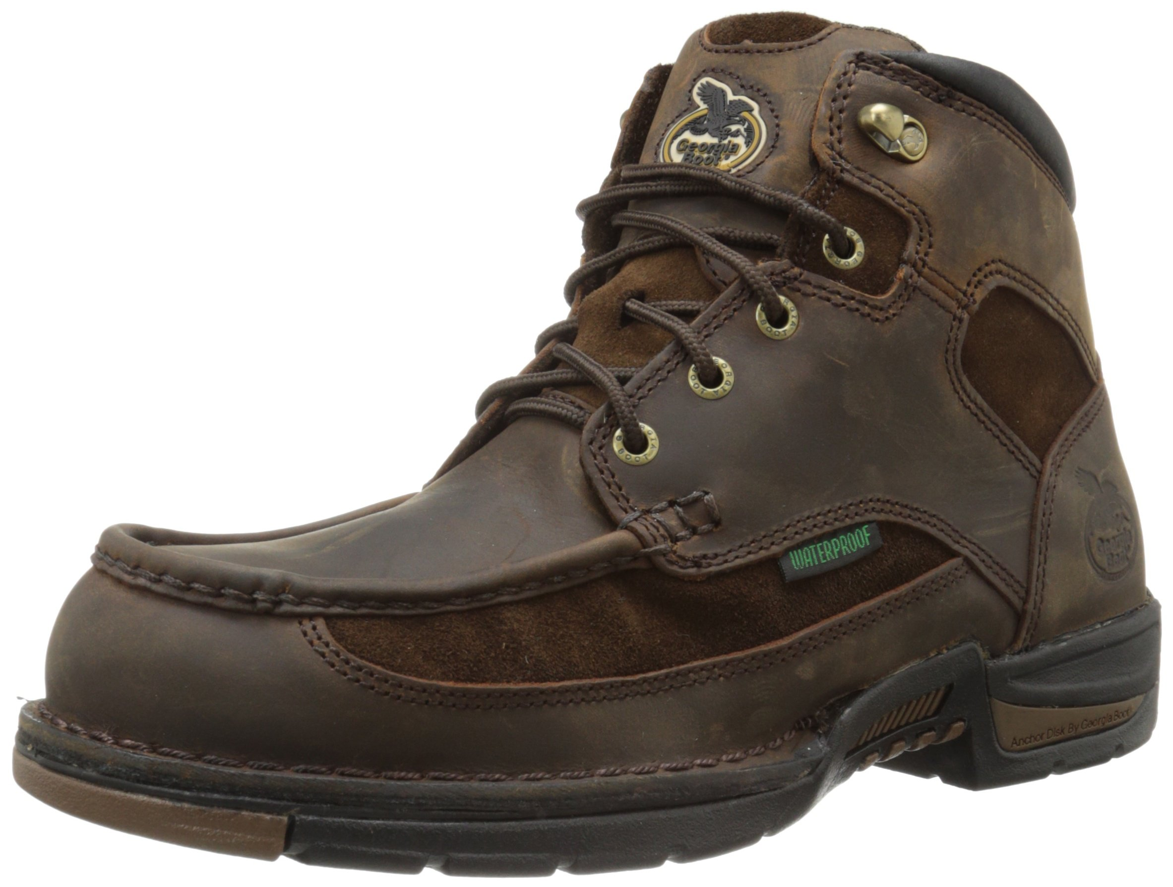 Georgia Boot Men's Toe Athens G7403 Work Boot,Brown,10.5 M US