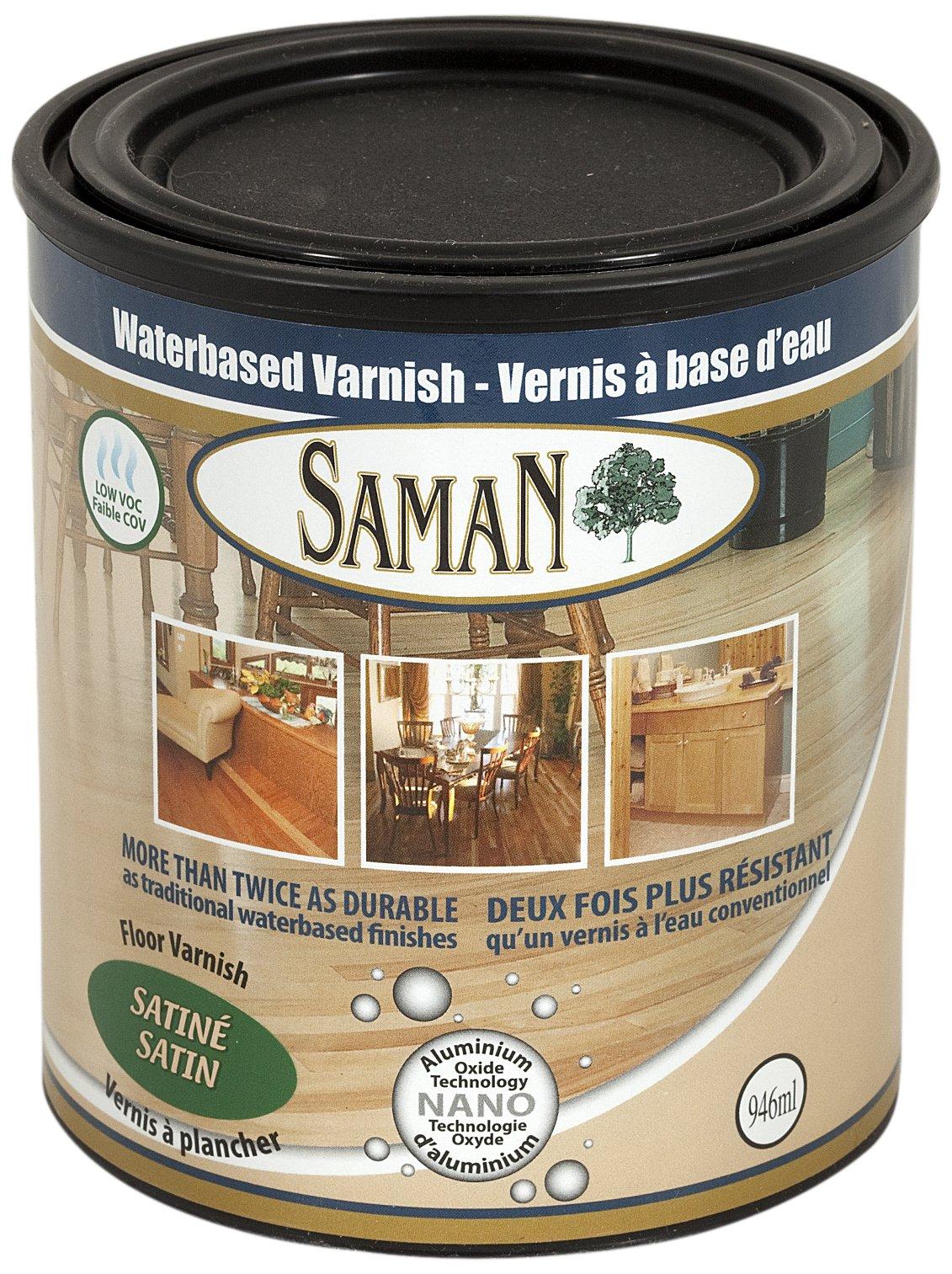 SamaN 160-031-1L 1-Quart Interior Water Based Satin Varnish with Aluminum oxide by SamaN (Image #1)