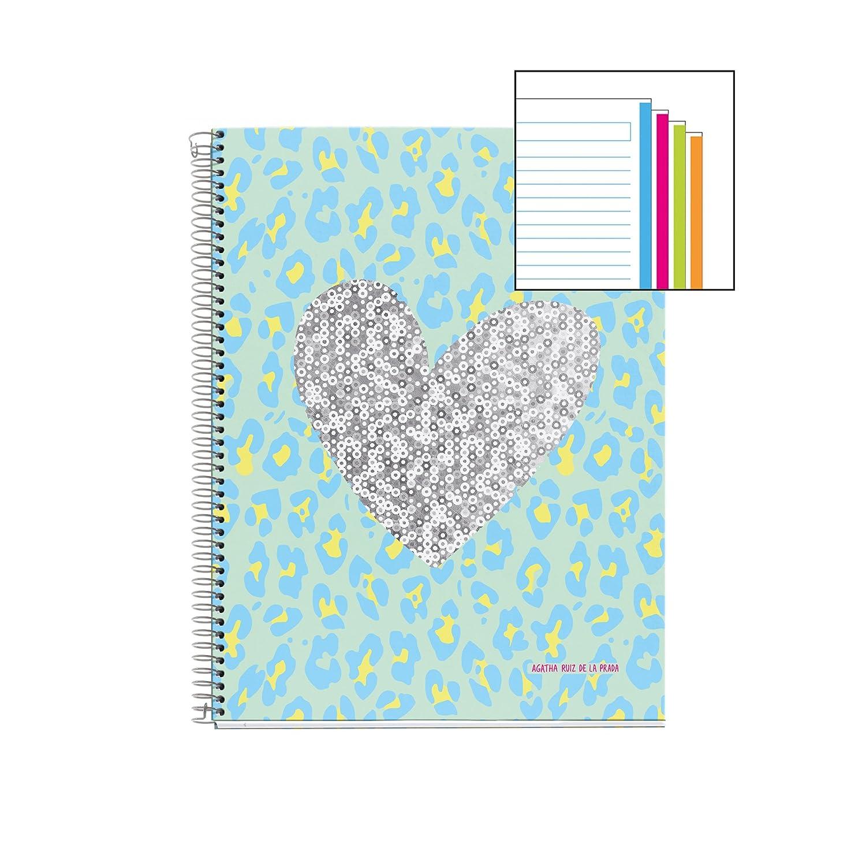 Agatha Ruiz de la Prada 48074 - Notebook 4 cartón piel ...