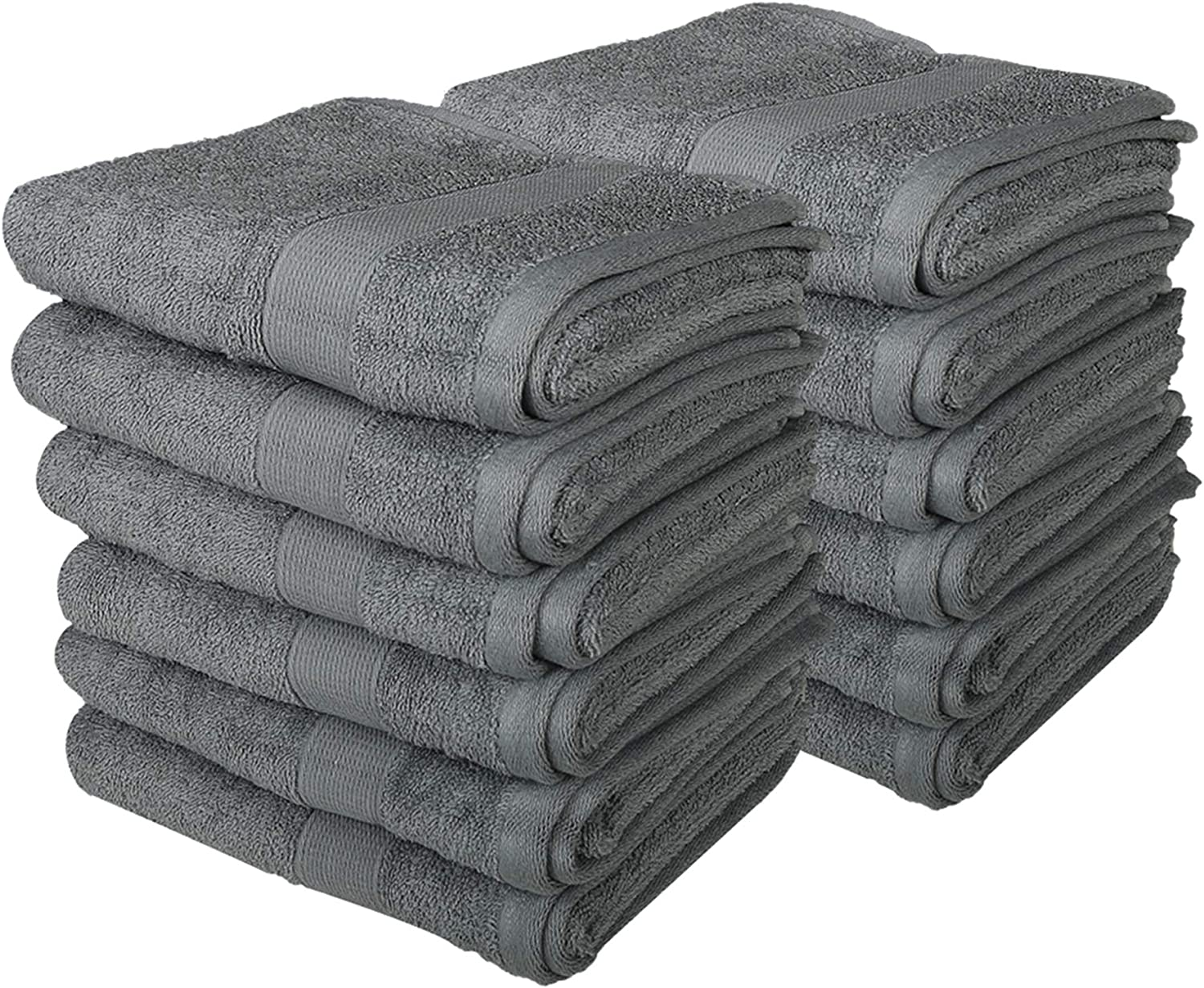 Pack of 6 16x28 Inches 100/% Cotton Luxurious Daily Use Towels for Bathroom and Kitchen Soft Extra Large Hand Towels White
