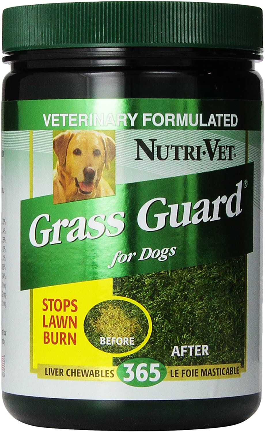 Nutri-Vet Grass Guard Chewable Tablets for Dogs, 365 Count