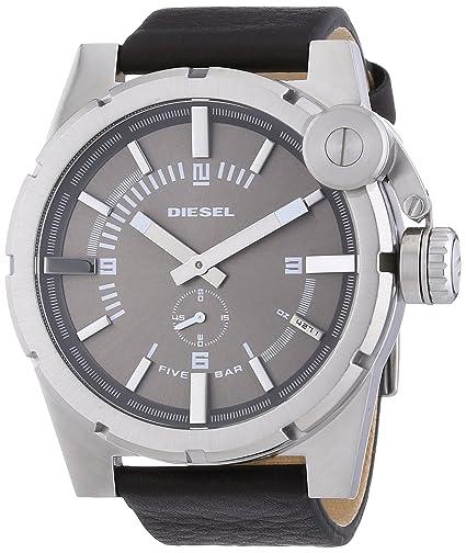Diesel DZ4271 - Reloj de cuarzo para hombre, con correa de cuero, color negro: Amazon.es: Relojes