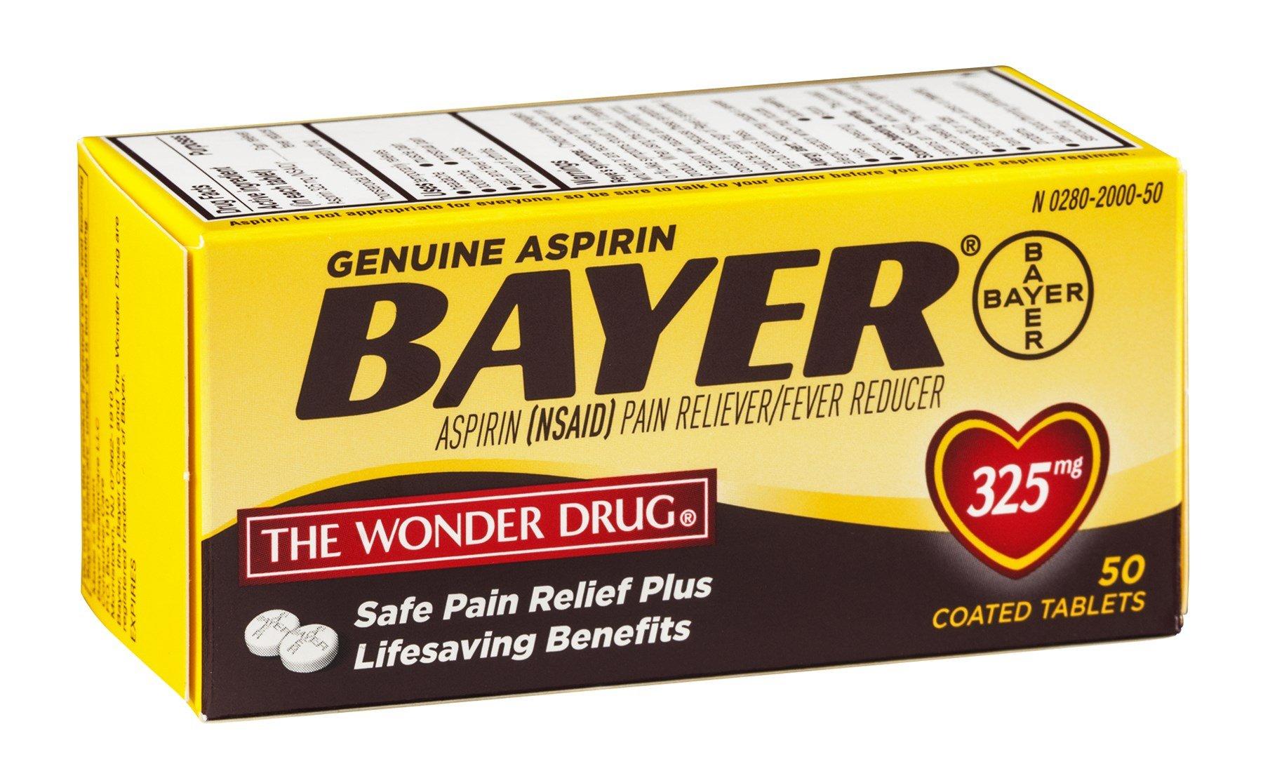 Bayer Genuine Aspirin Tablets, Pack of 18