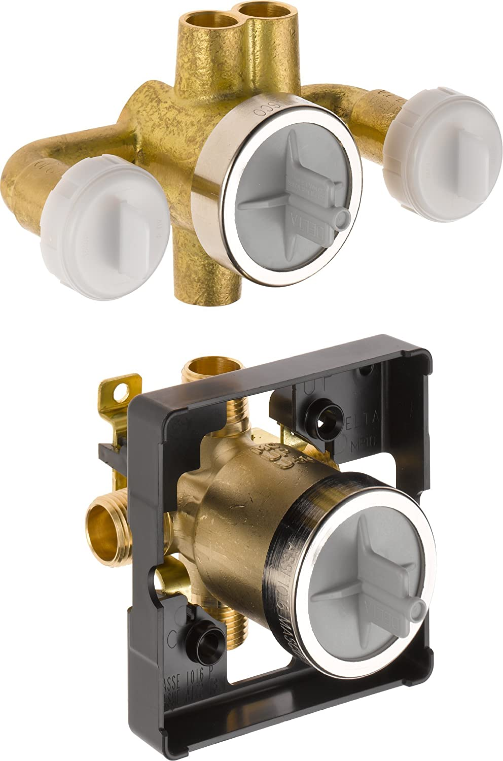 Delta R18000-XO Jetted Shower Rough-In Valve with Extra Outlet 6 ...
