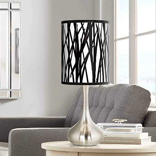 Black Jagged Stripes Giclee Droplet Table Lamp – Giclee Glow