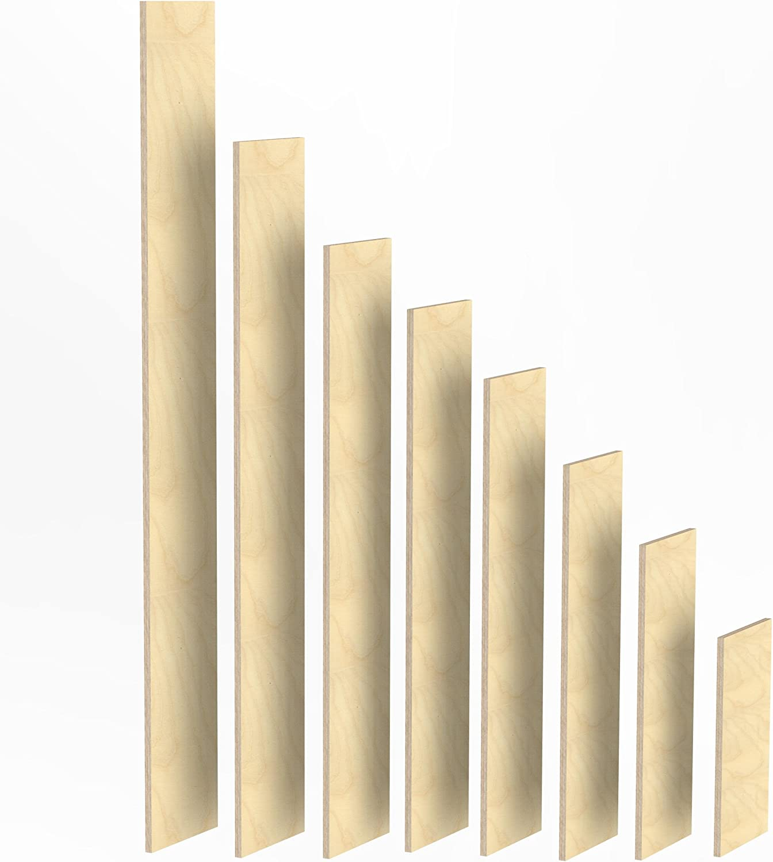 150mm Holz Bretter 18mm Multiplex Brett-Zuschnitte L/ängen 1m 1050 mm 2m Birke Sperrholz Brett L/änge