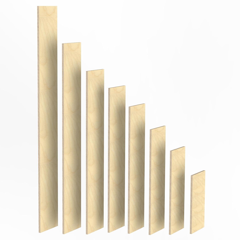 150mm Holz Bretter 30mm Multiplex Brett-Zuschnitte L/ängen 1m 1020 mm 2m Birke Sperrholz Brett L/änge