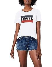 Levi's the Perfect Tee, T-Shirt Femme, Blanc (White 297), Medium