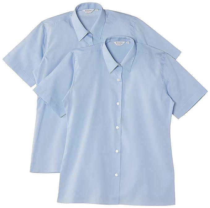 7bc3ee390 Trutex Limited - Blusa liso de manga corta para niña (pack de 2)   Amazon.es  Ropa y accesorios