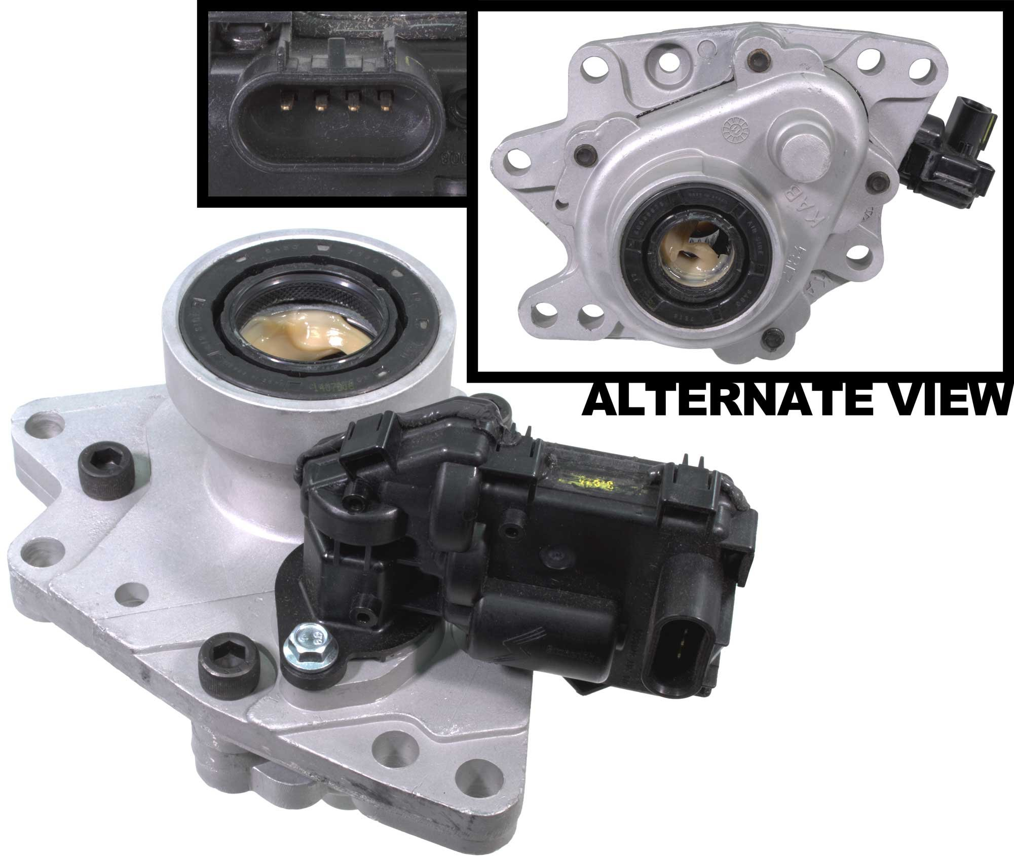 APDTY 711226 & 711214 4WD Front Differential Axle Disconnect Intermediate Shaft Bearing Assembly With 4-Wheel Drive Plunger Actuator Fits 2002-2009 Trailblazer Envoy Bravada Ascender 9-7x by APDTY