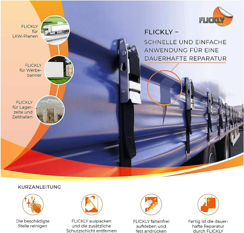 Disponible en plusieurs couleurs transparent sur rouleau B/âche de r/éparation pour b/âches 2,5 m x 100 mm FLICKLY /®