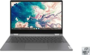 "Lenovo Chromebook Flex 5 13"" Laptop, FHD (1920 x 1080) Touch Display i3-10110U Processor, 4GB DDR4 OnBoard RAM, 64GB SSD, Intel Integrated Graphics, Chrome OS, 82B80006UX Graphite Grey (Renewed)"