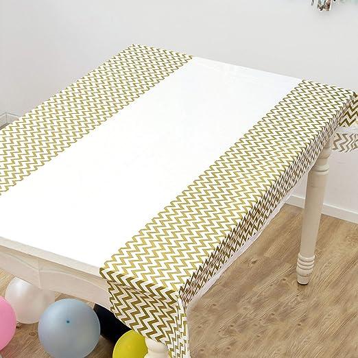 QCWN Chevron Mantel de plástico, manteles de plástico para mesas ...