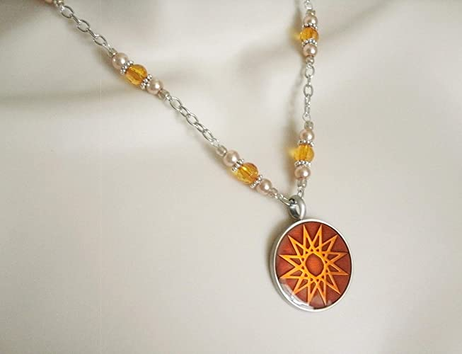 Amazon com: Elven Star Necklace, handmade jewelry wiccan