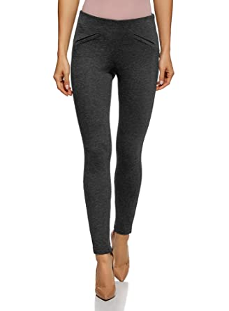 Oodji Femme Fausses Amazon Moulant Poches Pantalon Avec Collection 7Hqr7wZ