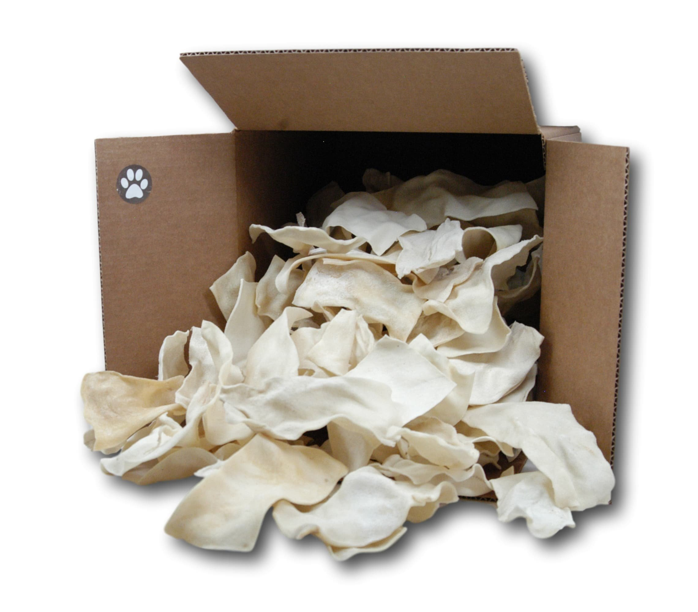 Natural Rawhide Chips For Dogs Bulk Rawhide Dog Treats (3Lb) by Top Dog Chews