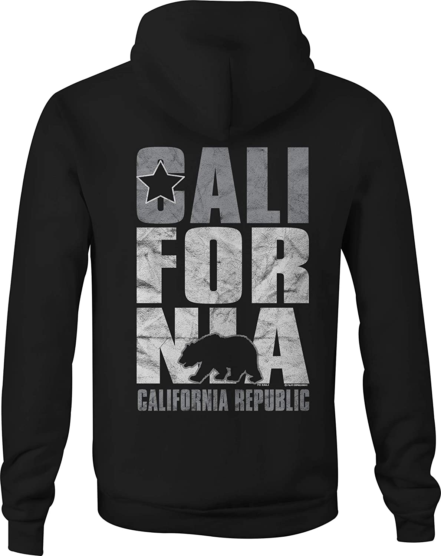 Cali Zip Up Hoodie California Boardwalk Hooded Sweatshirt for Men