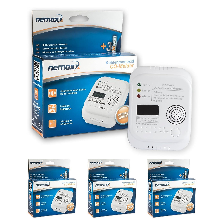 Nemaxx Detector de CO, Alarma de Monó xido de Carbono - Alta sensibilidad con Display LCD Alarma de Monóxido de Carbono - Alta sensibilidad con Display LCD 100749