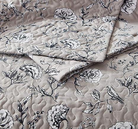 Botanischer Garten Mikrofaser Mit 1 Kissenbez/üge 60x70cm SLEEP TIME Tagesdecke Bett/überwurf Steppdecke 180 x 250 cm