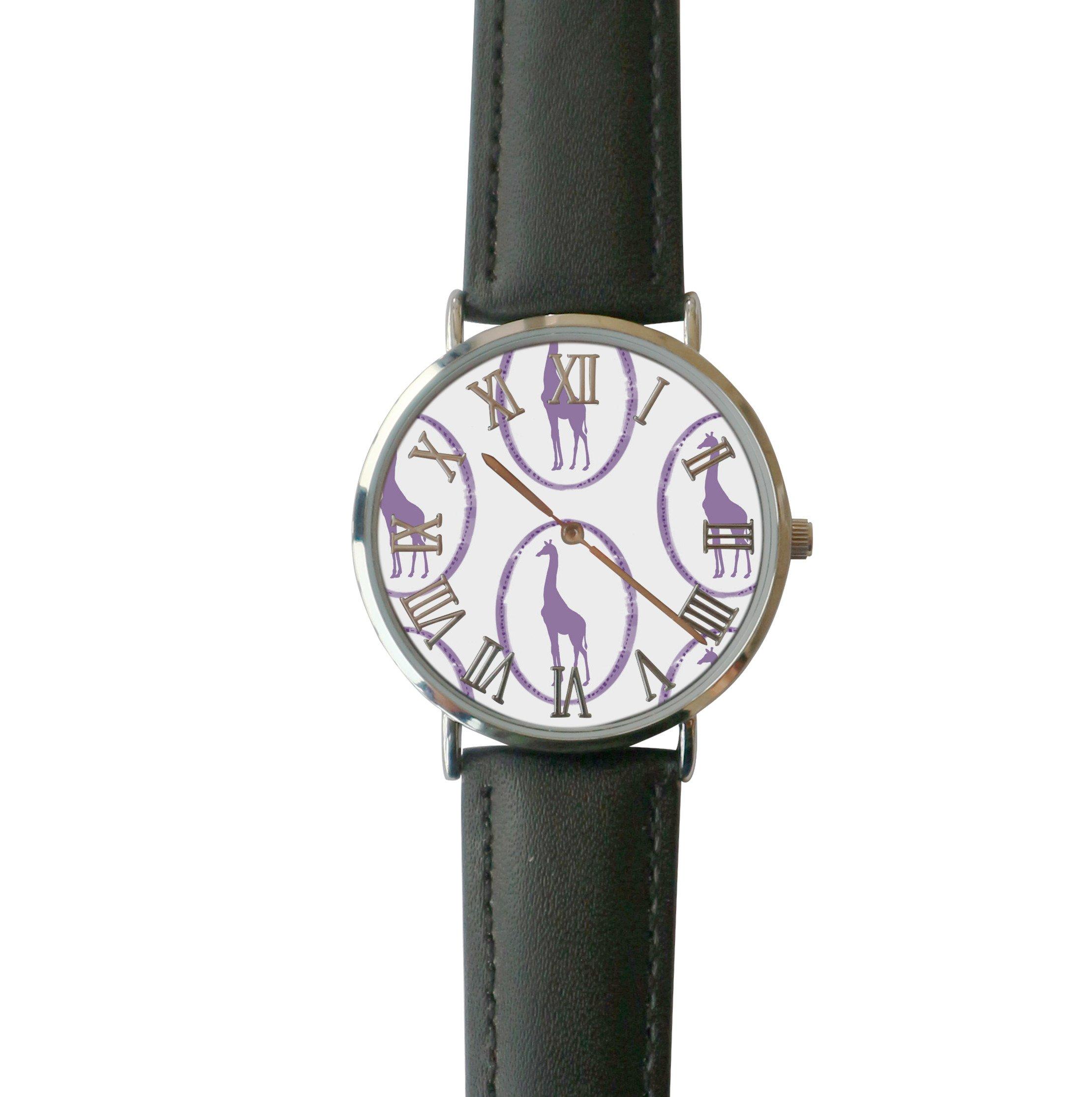 JISJJCKJSX Gray Giraffe custom watches quartz watch stainless steel case
