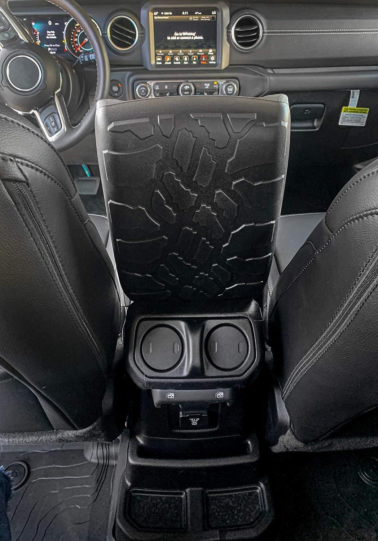 Armrest Cover Boomerang Tire Tread Armpad Center Conosle Cover for Jeep Gladiator JT 2020+