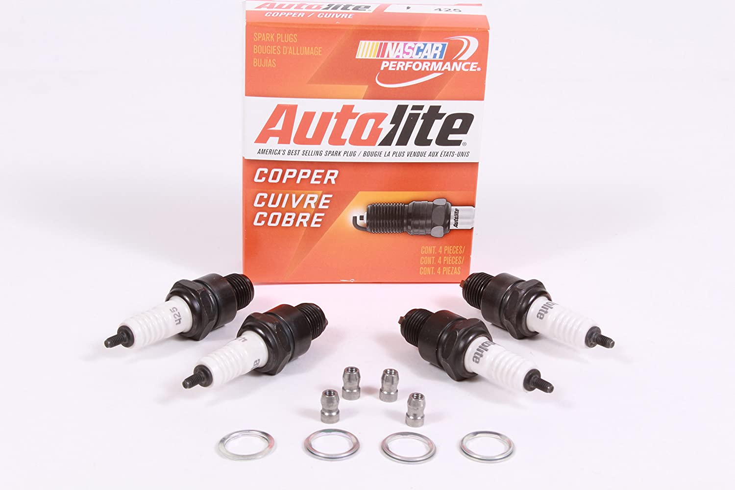 Amazon.com: Autolite Box of 4 Genuine 425 Copper Resistor Spark Plugs: Home & Kitchen