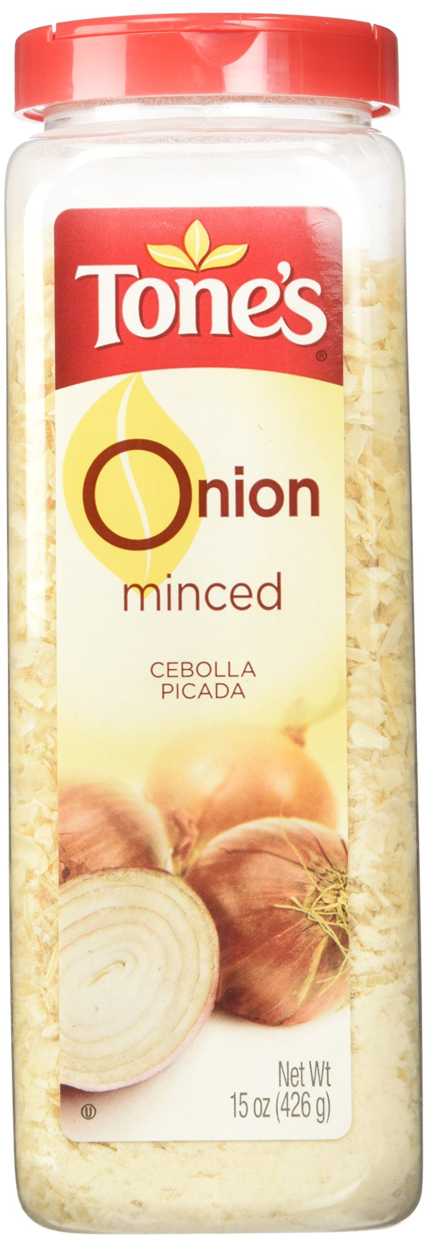 Tone's Minced Onion - 15 oz shaker