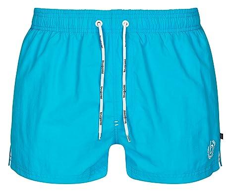 9bf64a056b Bugatti Men's Short Swim Shorts in Green, Navy, Red, Black Turquoise:  Amazon.co.uk: Clothing
