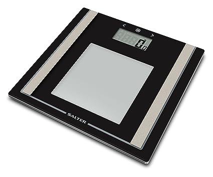 Salter 9112 BK3R Analizador de básculas de baño, en vidrio con una gran pantalla,