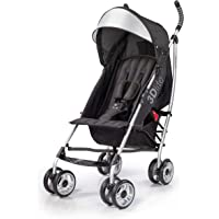 Summer 3Dlite Convenience  Stroller, Black – Lightweight Stroller with Aluminum Frame, Large Seat Area, 4 Position Recline, Extra Large Storage Basket – Infant Stroller for Travel and More