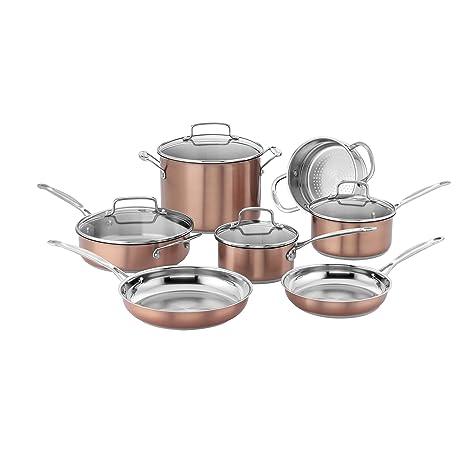Cuisinart CSS-11BU Chef\'s Classic Stainless Cookware Set, Medium, Copper