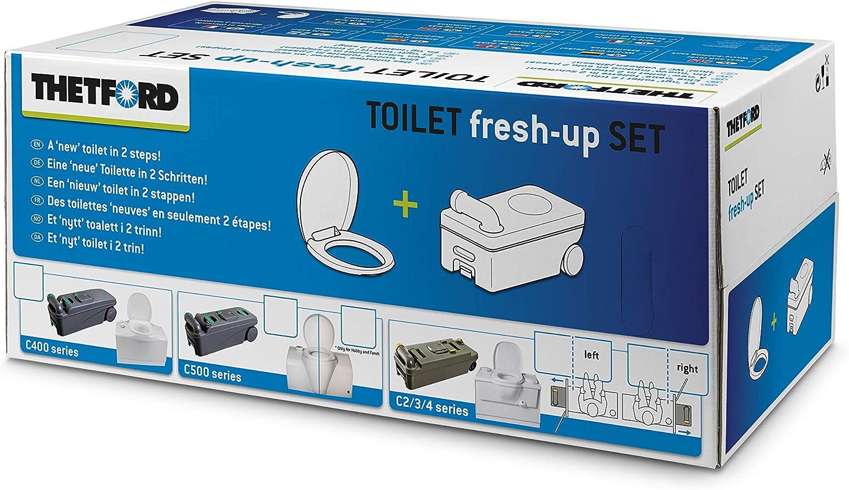 Thetford Fresh Up Sets Für Thetford Toiletten Mit Handgriff Und Räder Set Verschiedene Modelle Für Mobile Campingtoiletten Auffrischung Fäkalientank Deckel Auto