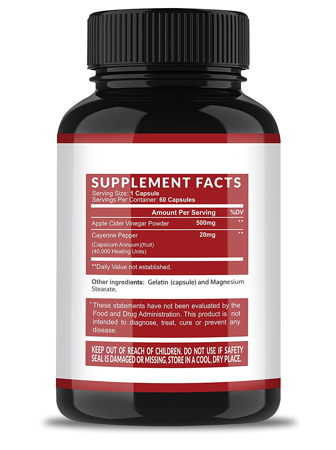 Havasu Nutrition Extra Strength Apple Cider Vinegar Pills - 500mg - Natural Detox, Digestion, Immune Booster - Powerful Cleansing Supplement, Premium-Non-GMO ACV - 60 Capsules