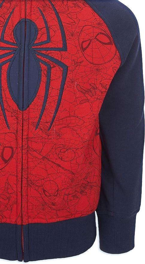 Spider-Man Masked Hoodies Kids Girls Boys Tops Jumpers Sweatshirt Age 4-13 Years