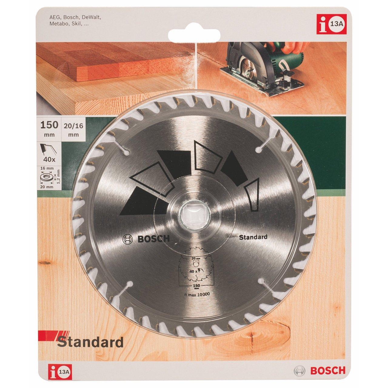 Bosch 2609256808 DIY Kreiss/ägeblatt Basic 156 x 2.2 x 12.7//,Z24