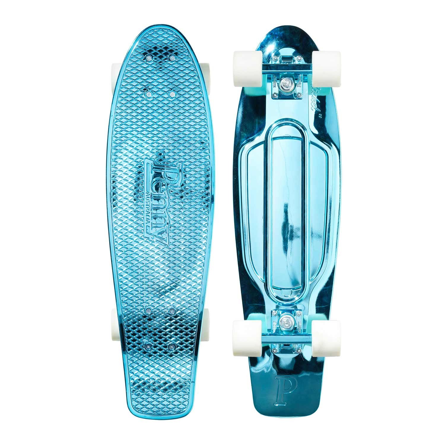 Penny Graphic Skateboard – Blue Metallic Solid 27