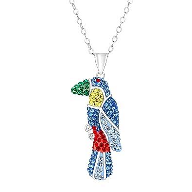 819b678904e56 Amazon.com: Crystaluxe Toucan Pendant Necklace with Swarovski ...