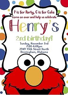 Sesame Streets Elmo Inspired Invitation