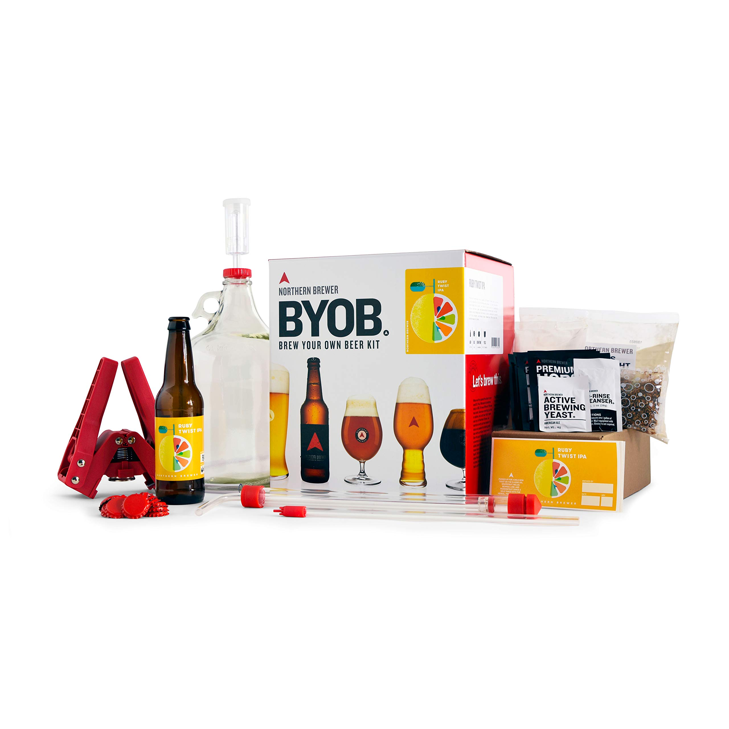 BYOB by Northern Brewer - Brew Your Own Beer Home Beer Making Kit (Ruby Twist IPA)