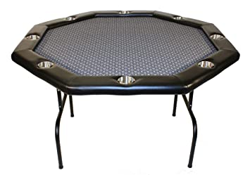 Texas Holdem Poker Table W/ Stainless Cup Holders, Suited Speed Cloth, With  Folding