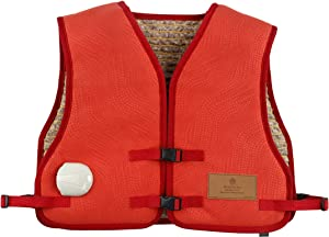 """HealthyLine Far Infrared Heating Vest with Amethyst Stones - Neck, Shoulder, Back Pain Relief - Negative Ion Therapy - 36"""" x 21"""""""