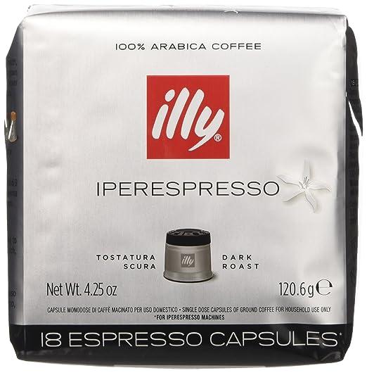 41 opinioni per illy Caffè Iperespresso Tostatura Scura- 6 confezioni da 18 capsule (tot 108
